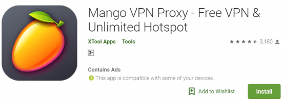 Mango VPN For Windows