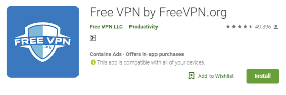 Free VPN by FreeVPN.org PC