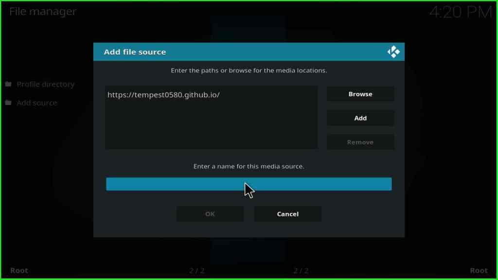 tempest addon kodi installation step 6