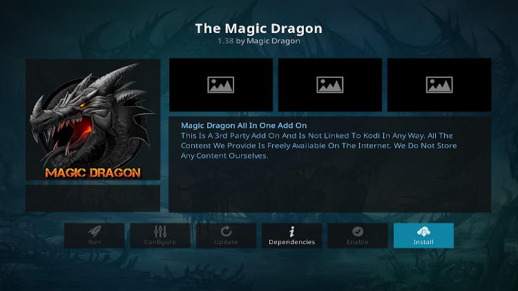 how to get magic dragon addon kodi