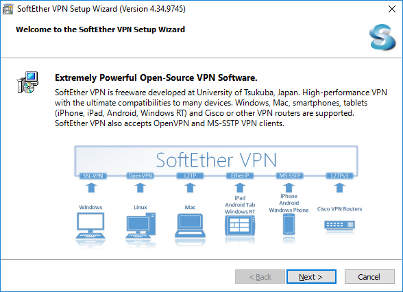 how to install softether vpn on windows step 1