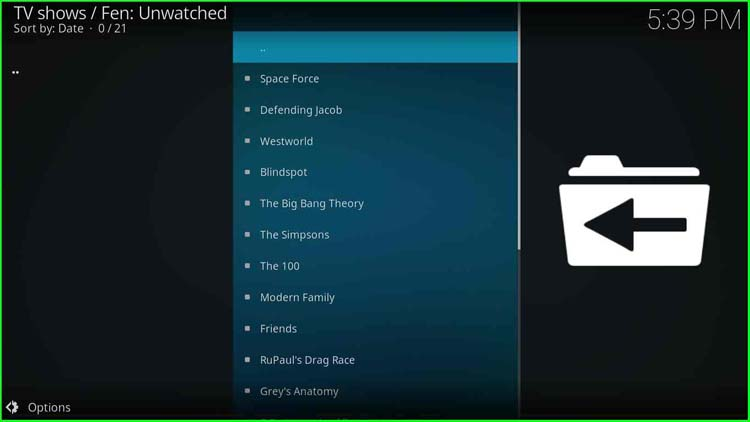 FEN TV Shows categories