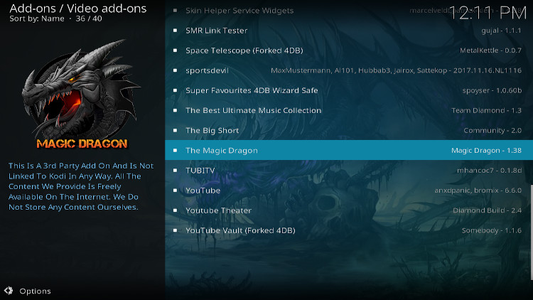 how to add magic dragon addon kodi
