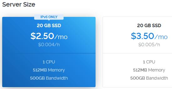 Vultr $2.5 VPS Servers