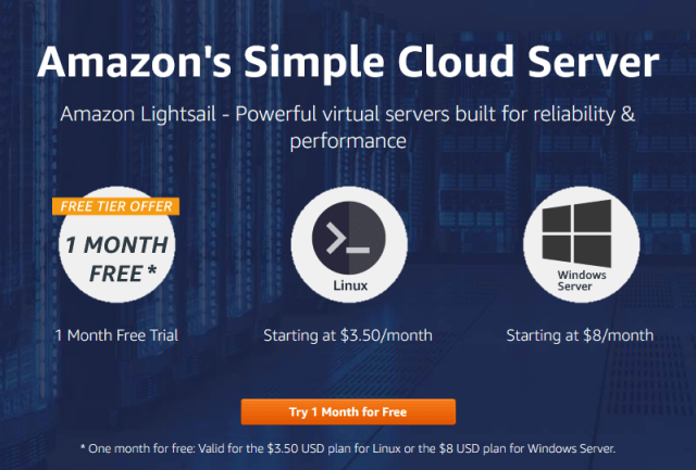 Amazon's Simple Cloud Server Amazon Lightsail