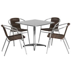 Bistro Tables And Chairs Mint Green Chair Covers Wow Quality Cafe Enhance Your Aluminum