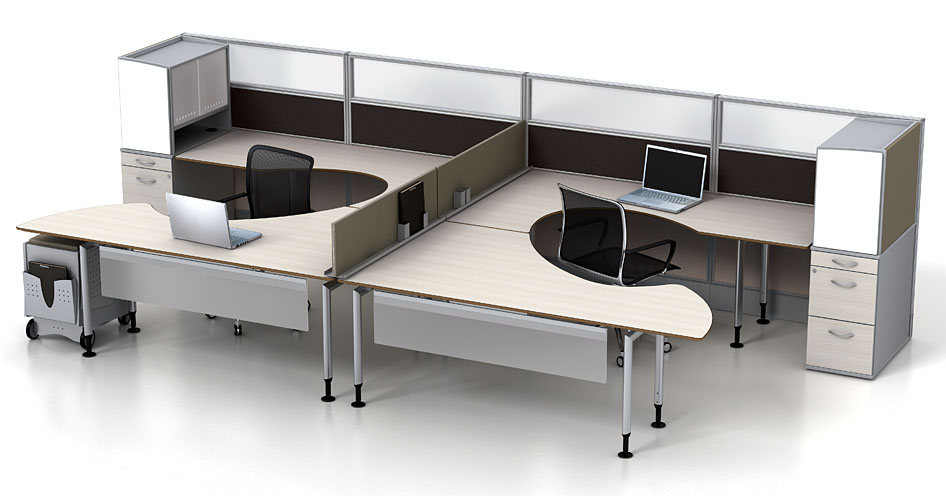 Modular Office Furniture  Watson Fusion Dual Worksttion