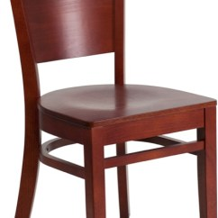 Wooden Restaurant Chairs Foam Folding Chair Beds Enhance Your Dining Bar And Bistro Space With Stylish Durable Lacey Series Solid Back Mahogany Xu Dg W0094b Mah Gg