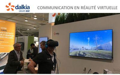 La VR Academie l'animation événementielle VR du stand Dalkia