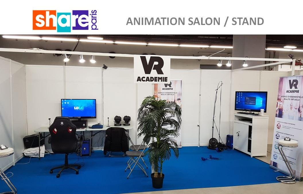 Animation en r alit virtuelle au salon share paris - Porte champerret salon ...