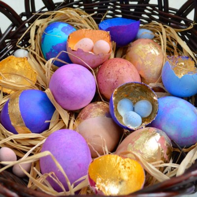 Metallic Easter Eggs @ VRAI Magazine by Danielle Gaddis