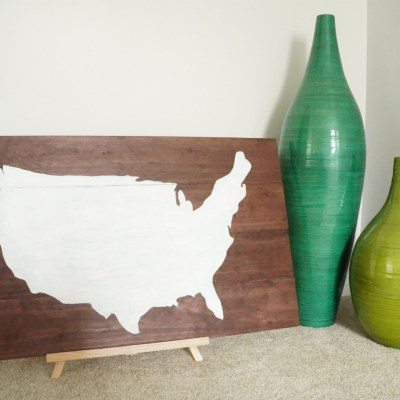 Make your own wood plank map art