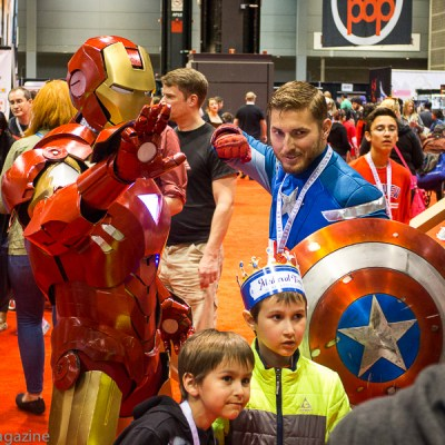 Iron Man and Captain America at C2E2 -- VRAI Magazine