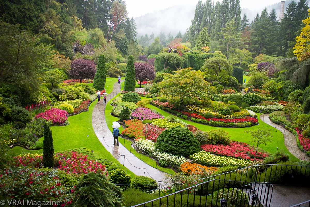 the beauty of butchart gardens in victoria bc