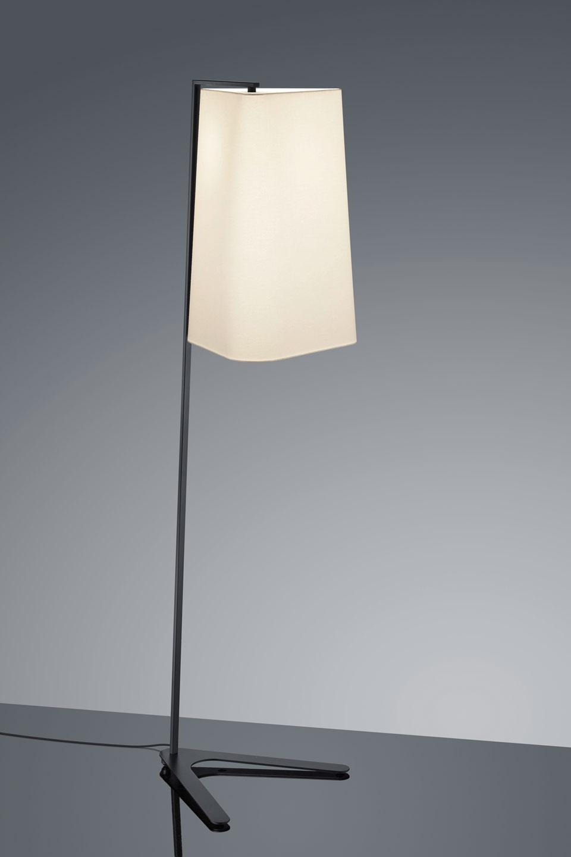 Design Floor Lamp With Black Metal Foot Baulmann Leuchten Luxury Lightings Made In Germany Ref 17110002