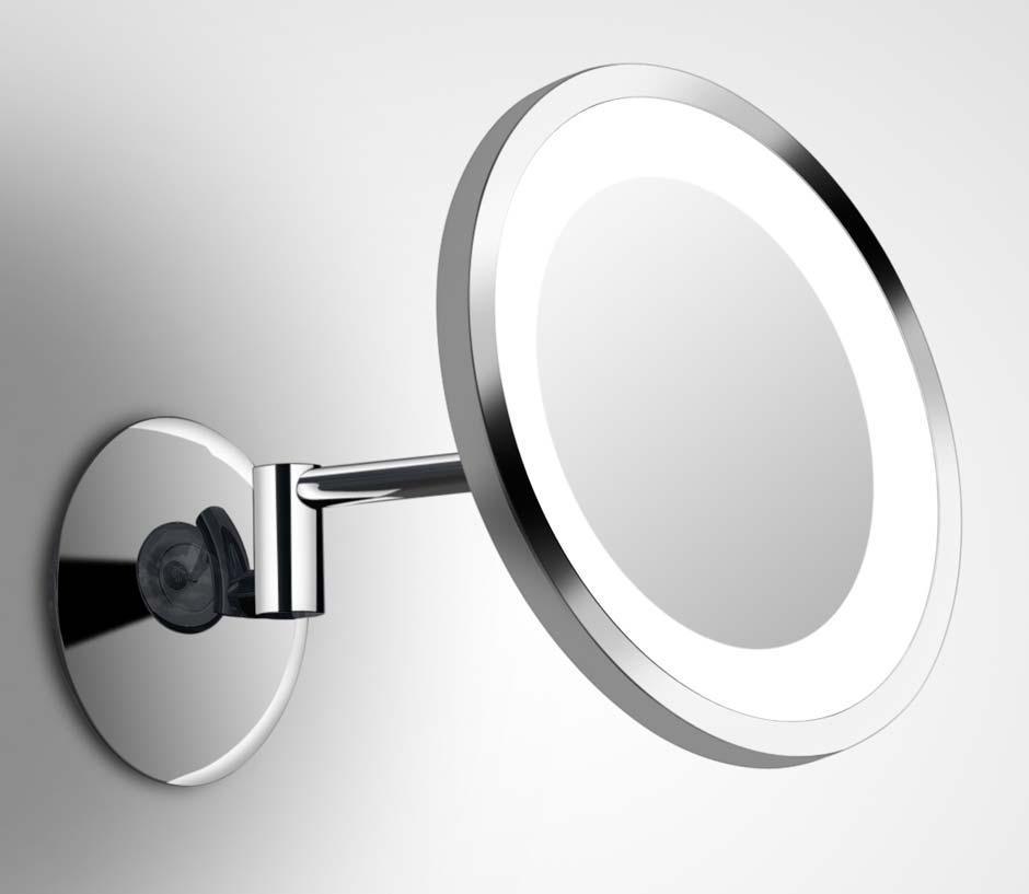 Shaver Led 2 Miroir Rond Mural Sur Bras Orientable Par Bpe Licht Ref 11090084
