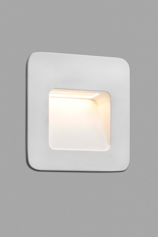 square aluminum and polycarbonate step light indirect light ip44 led lighting