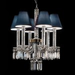 Crystal Chandelier 6 Lights With Drops In Swarovski Crystal Italamp Lustre Classic And Contemporary Chandelier Ref 18050001