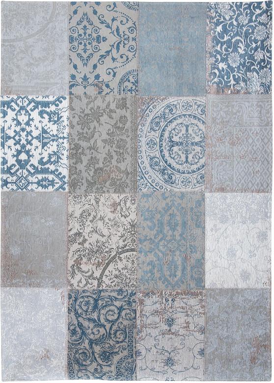 tapis patchwork chenille bleu 80x150 ma salgueiro tapis comtemporain tapis tapis contemporain tapieu en peau peau de vache entierecontemporain ref 19010538