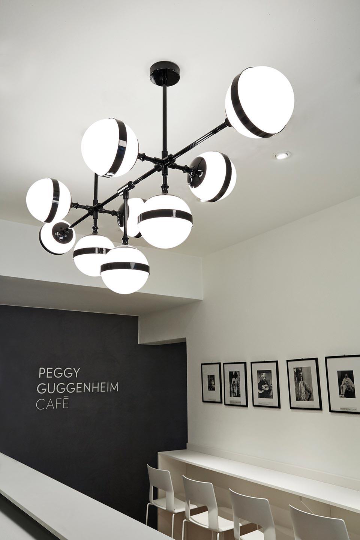 large shinny black and white opal glass chandelier peggy vistosi murano blown glass lighting designer ref 19040016