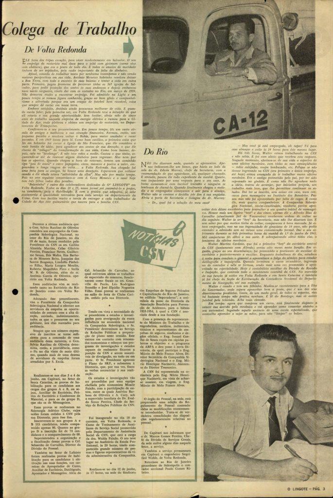 Volta Redonda -OLingote Edição 7 – 25 de Junho de 1953 - Página 3