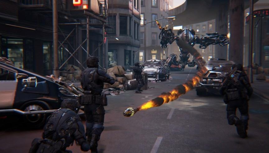 showdown free experience for oculus rift screenshot. flying bullets
