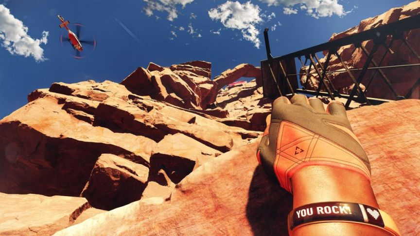 the climb game for oculus rift screenshot canyon lookup