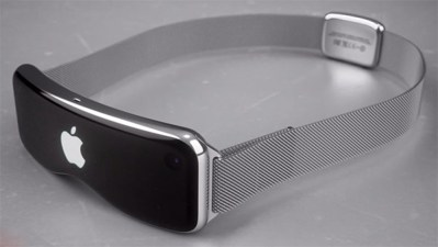 apple vr glasses prototype mockup