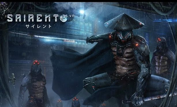 sairento VR review armored ninjas on rooftoop in rain