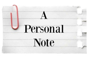 a personal note with paper clip