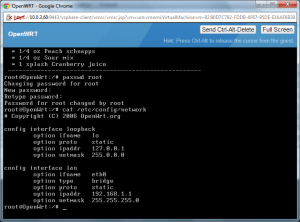 Initial network config