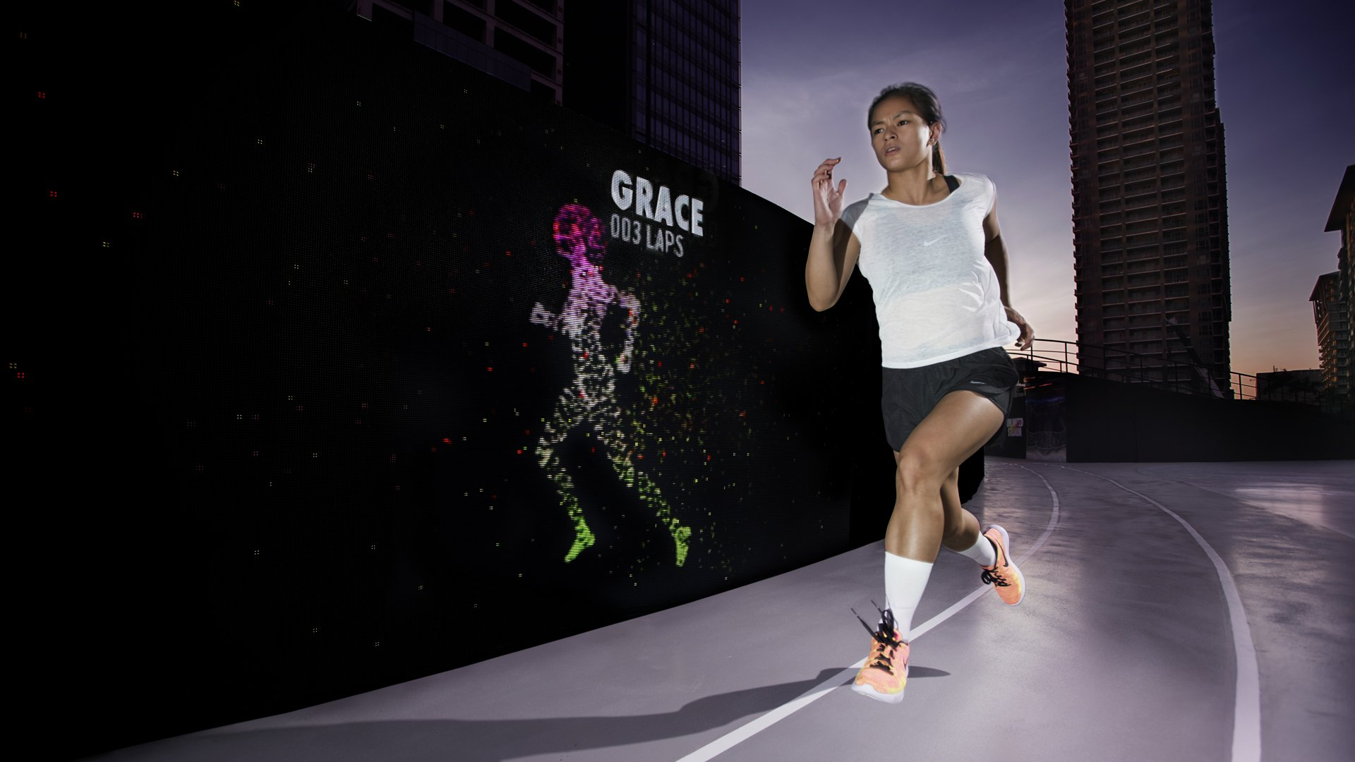 "outlet store b10df ddb5e You Can Now Race and Beat Your Own Avatar at Nike s ""Unlimited Stadium"""