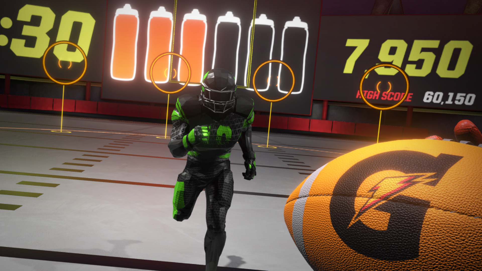 Hands On with Gatorade Beat the Blitz   Free VR Quarterback Game