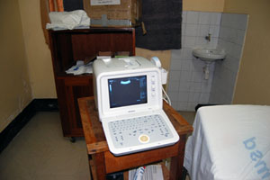 a broken ultrasound machine