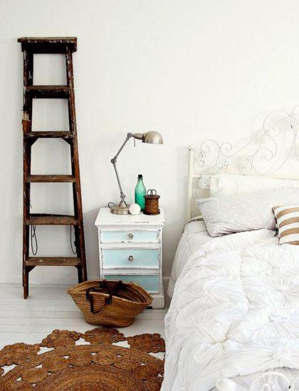 Leuke decoratie houten ladders