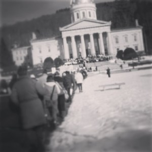 2014 Vermont Rally for Life Walking to Statehouse steps