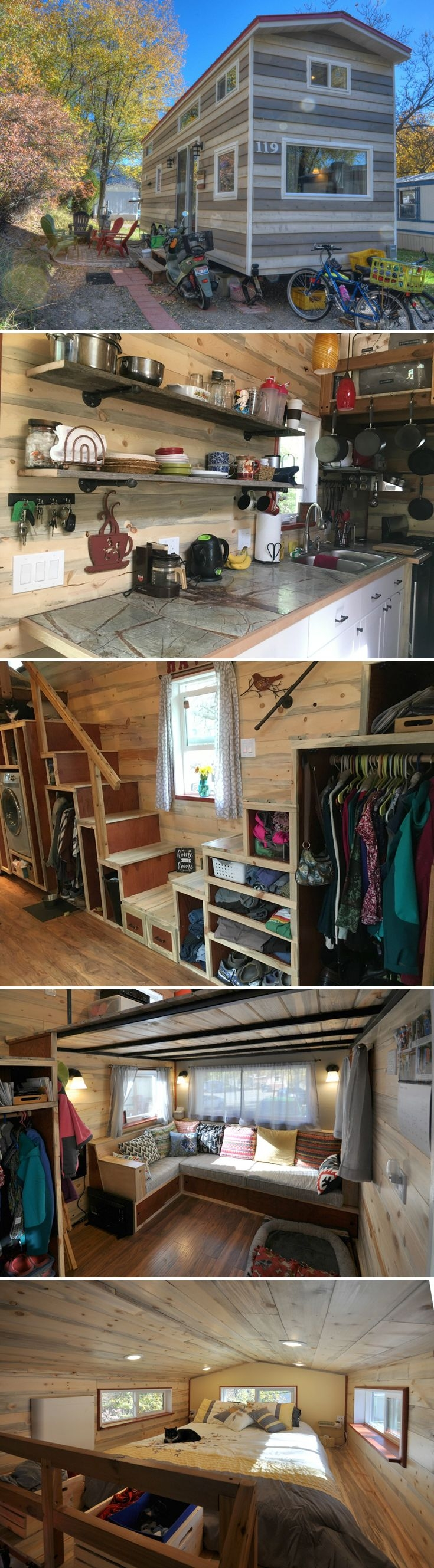 60 Small Mountain Cabin Plans with Loft Luxury Harmony Haven by Rocky Mountain Tiny Houses