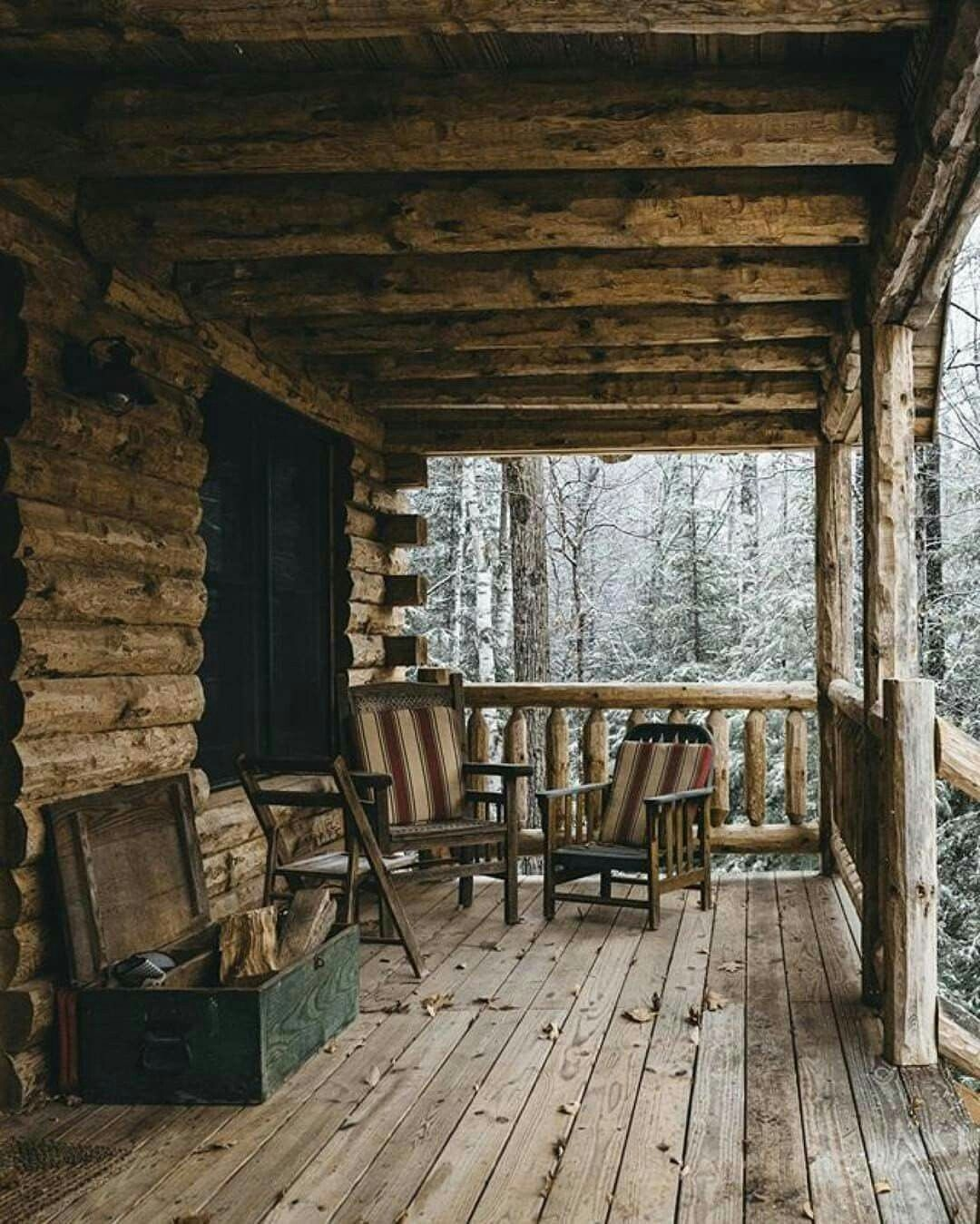 60 Small Mountain Cabin Plans with Loft Unique A Cabin Porch In It S Simplest form Foundations