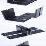 "80 Floating Shelf Brackets Beautiful Wall Shelves 4 Heavy Duty Steel 6""x8"" Countertop Support"