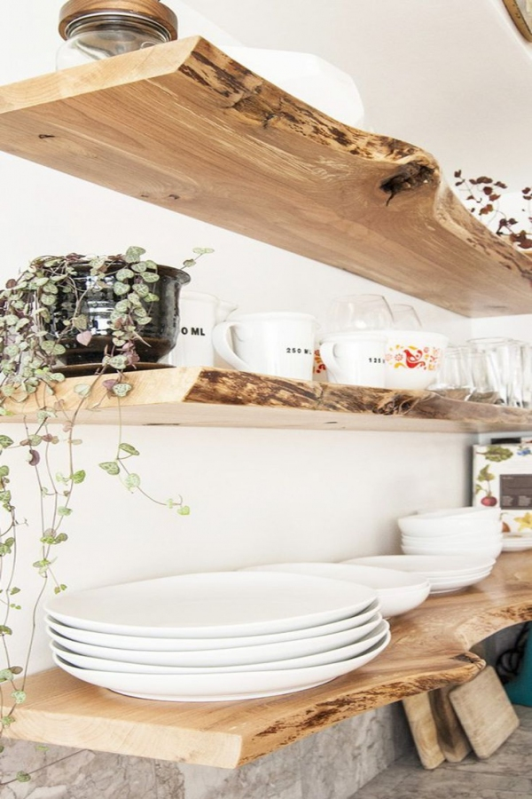 85 Sample Reclaimed Wood Floating Shelves Beautiful Free Up some Space with these Open Kitchen Shelving Ideas In 2019