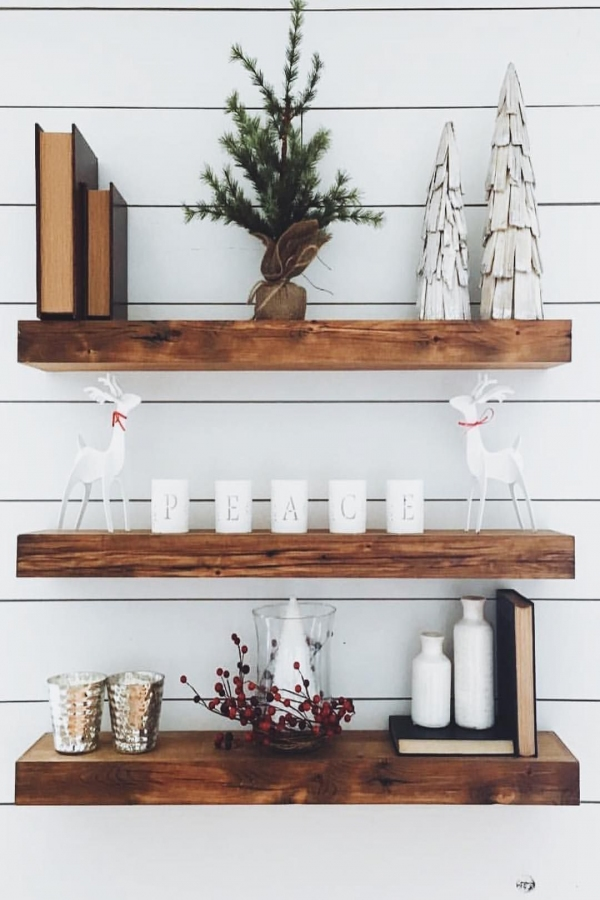 85 Sample Reclaimed Wood Floating Shelves Best Of Pin by Katherine Elliott On Christmas In 2019