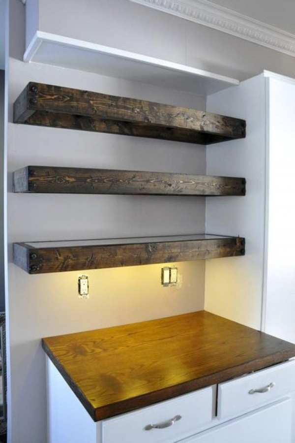 85 Sample Reclaimed Wood Floating Shelves Unique 27 Best Collection Thick Wood Shelves