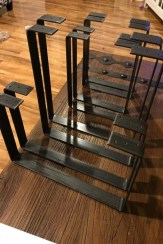 88 Wood Shelves with Metal Brackets Beautiful Handcrafted forged Rustic Reclaimed Metal Coffee Table Legs Steel