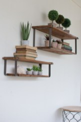 88 Wood Shelves with Metal Brackets Best Of Recycled Wood and Metal Floating Shelves Set Of 2 Free Shipping