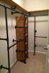 88 Wood Shelves with Metal Brackets Luxury Gas Pipe Closet More Plasma Cutting and Metal Projects