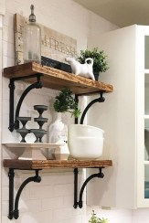 88 Wood Shelves with Metal Brackets New 20 Awesome Open Shelves Decor Ideas for Kitchen