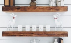 Reclaimed wood floating shelves awesome pin by katherine elliott on christmas in 2019