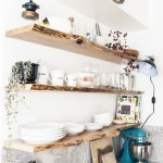 Reclaimed Wood Floating Shelves Beautiful Kitchen Live Edge Floating Shelves Kitchens