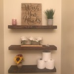 Reclaimed Wood Floating Shelves New Floating Shelves In My Powder Room Obsessed Diy