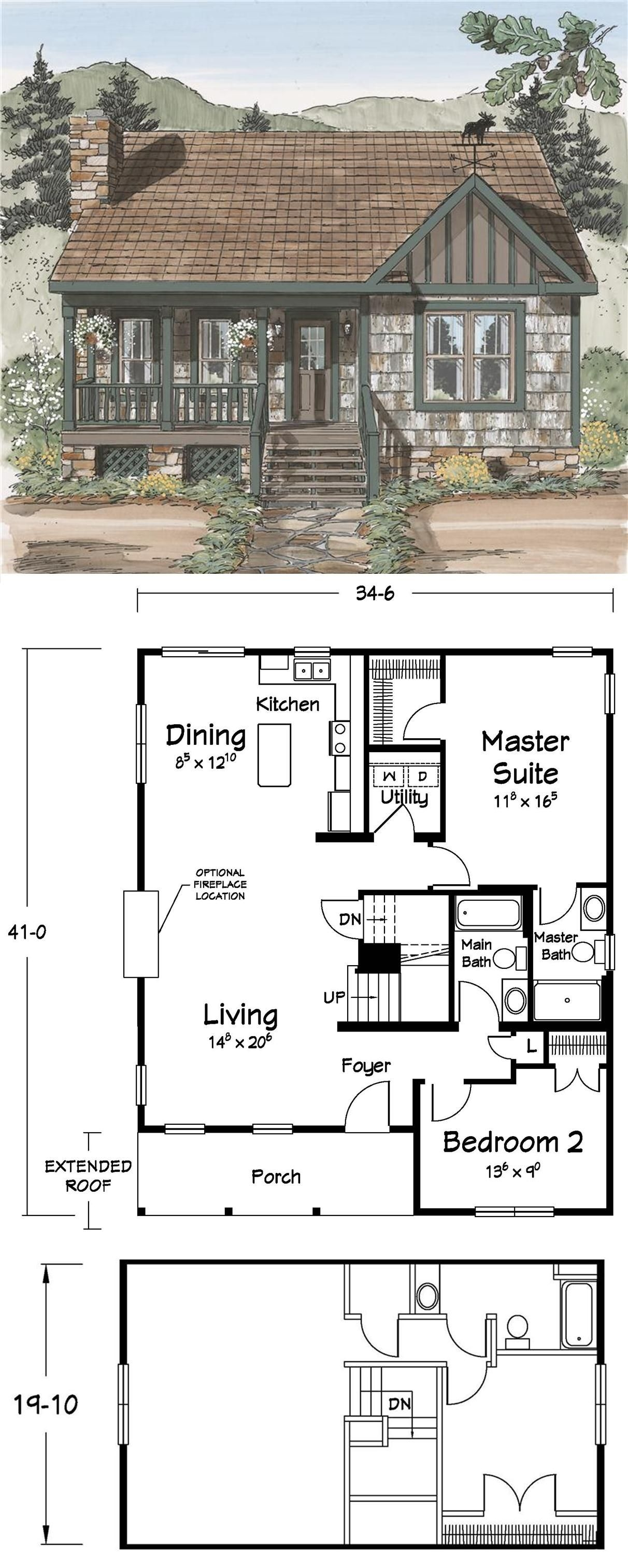 Rustic Mountain House Plans with Walkout Basement Best Of Cute Tiny Living Floor Plans Cabins & Cottages